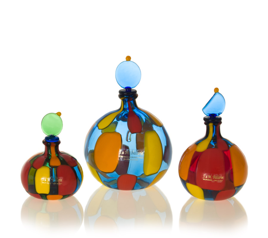 a murano pezzato bottles set