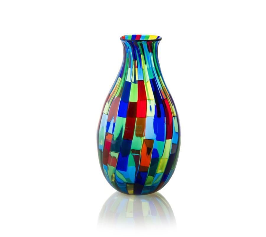 Vase oval acquamarina design