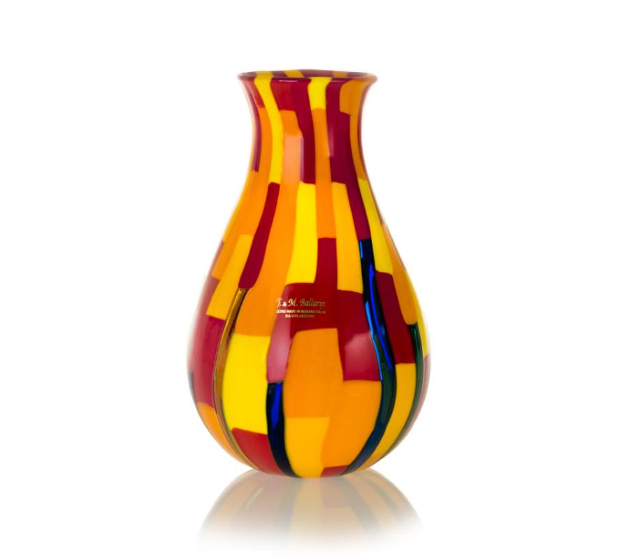 glass redentore vase by angelo ballarin