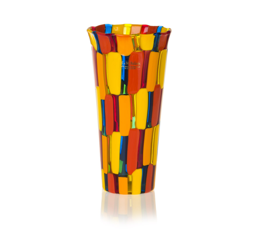 pezzato glass conical vase