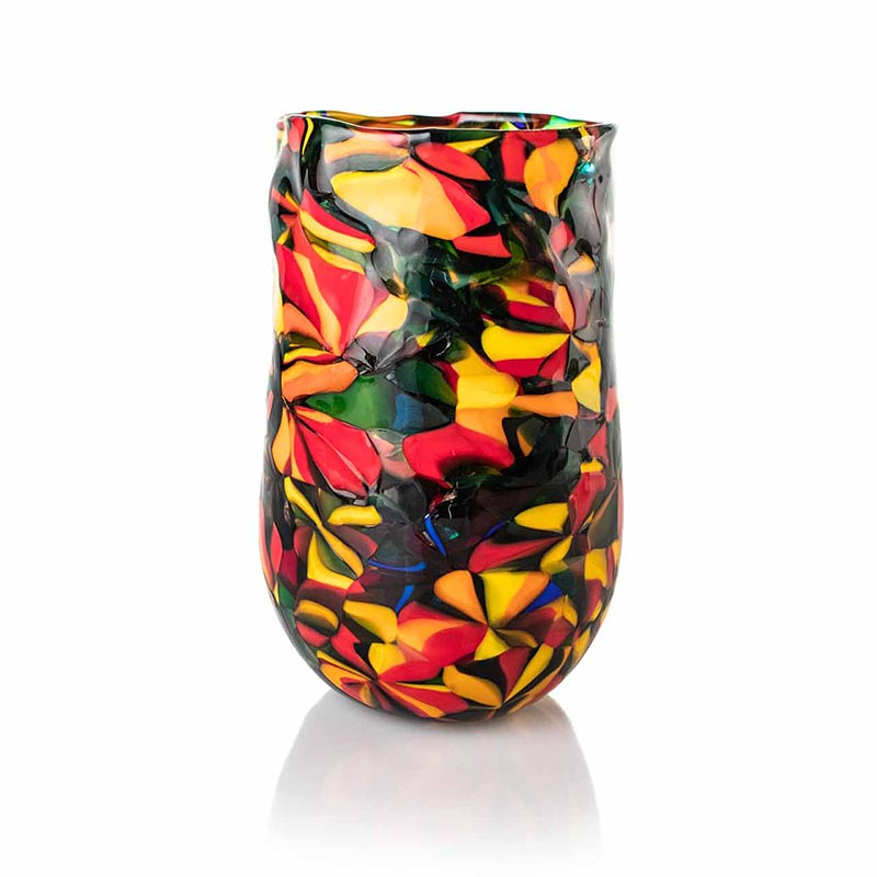 a glass vase by angelo ballarin eco friendly