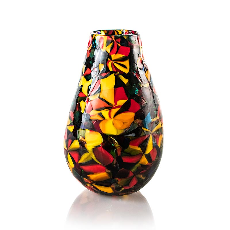 a colorful glass vase eco friendly